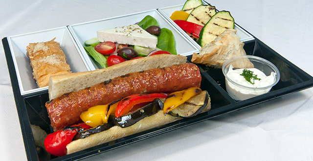 sandwich marinated eggplant roasted red peppers cucumber tomato red ...